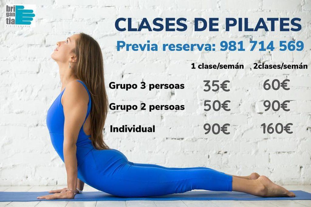 Precios clases de pilates